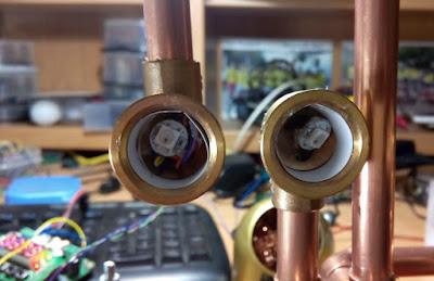 Detalle dígito Reloj Cromático Steampunk con Arduino
