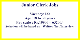Junior Clerk Jobs in Rajkot Municipal Corporation