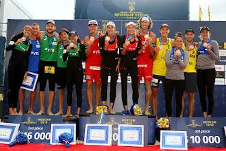 Brasil fica com duas pratas na etapa de Moscou do Circuito Mundial de Vôlei de Praia