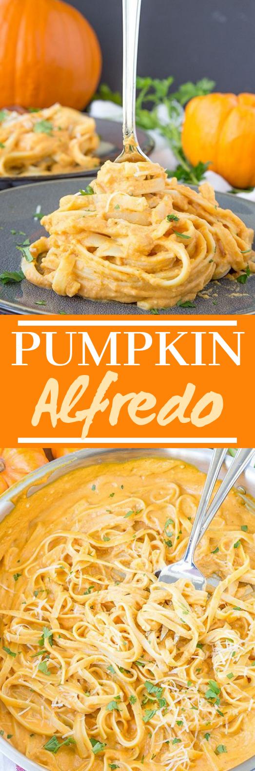 Creamy Pumpkin Alfredo #dinner #pasta