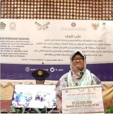 Rizki Indah Lestari Mahasiswa Universitas Riau Mengukir Prestasi di Musabaqah Hafalan Alquran dan Hadist (MHQH) Pangeran Sultan Bin Abdul Aziz Alu Su'ud Rahimahullah Tingkat Nasional ke-12