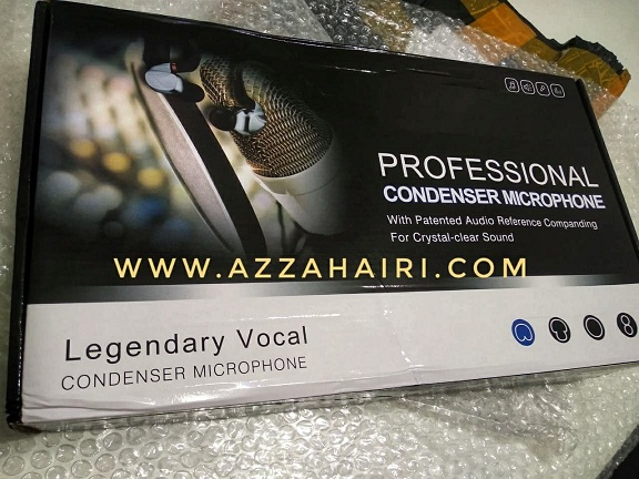 Condenser Microphone BM800 dan Sound Card V8
