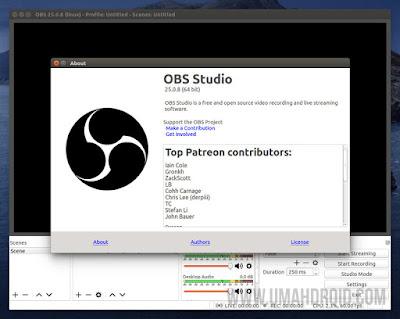 Screenshot OBS Studio Terbaru