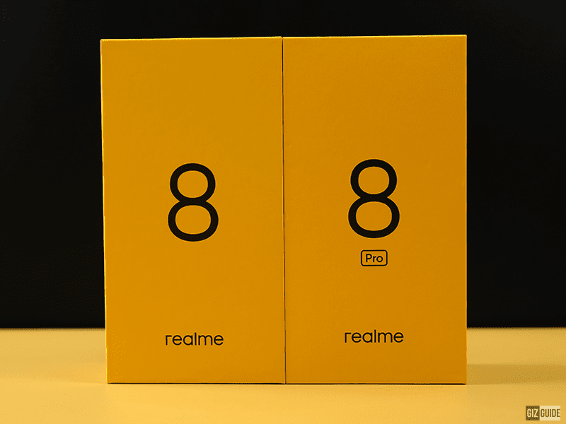 realme 8 and realme 8 pro outer packaging