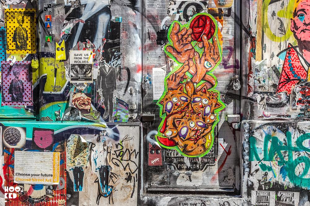 5 Brick Lane Street Art Hotspots for Paste-ups, Grimsby Street - City Kitty