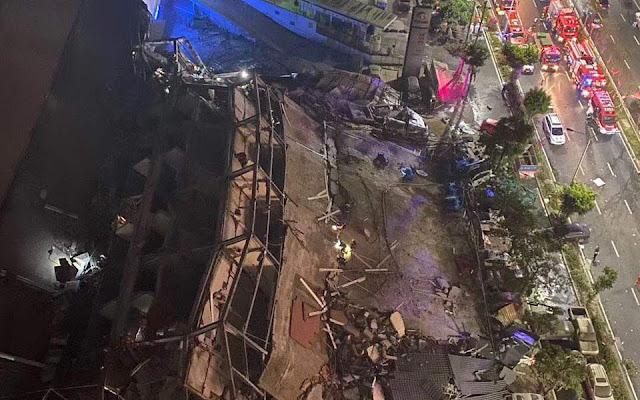 Κατέρρευσε κτίριο στην Κίνα που χρησιμοποιούνταν για καραντίνα των ασθενών από κορωνοϊό (βίντεο)