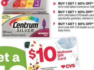 FREE Centrum Vitamins at CVS 1/27-1/2