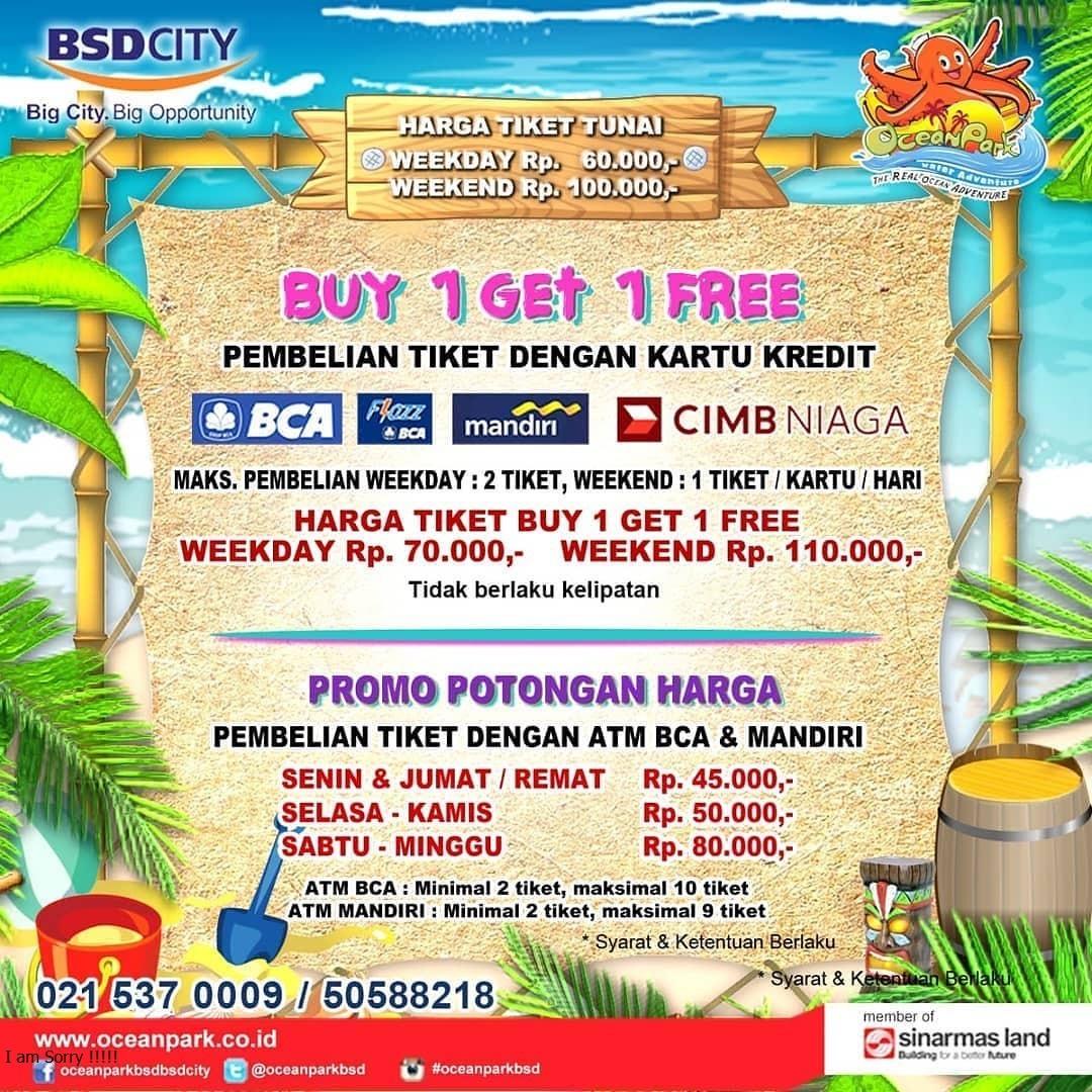 Promo Harga Tiket Ocean Park BSD City