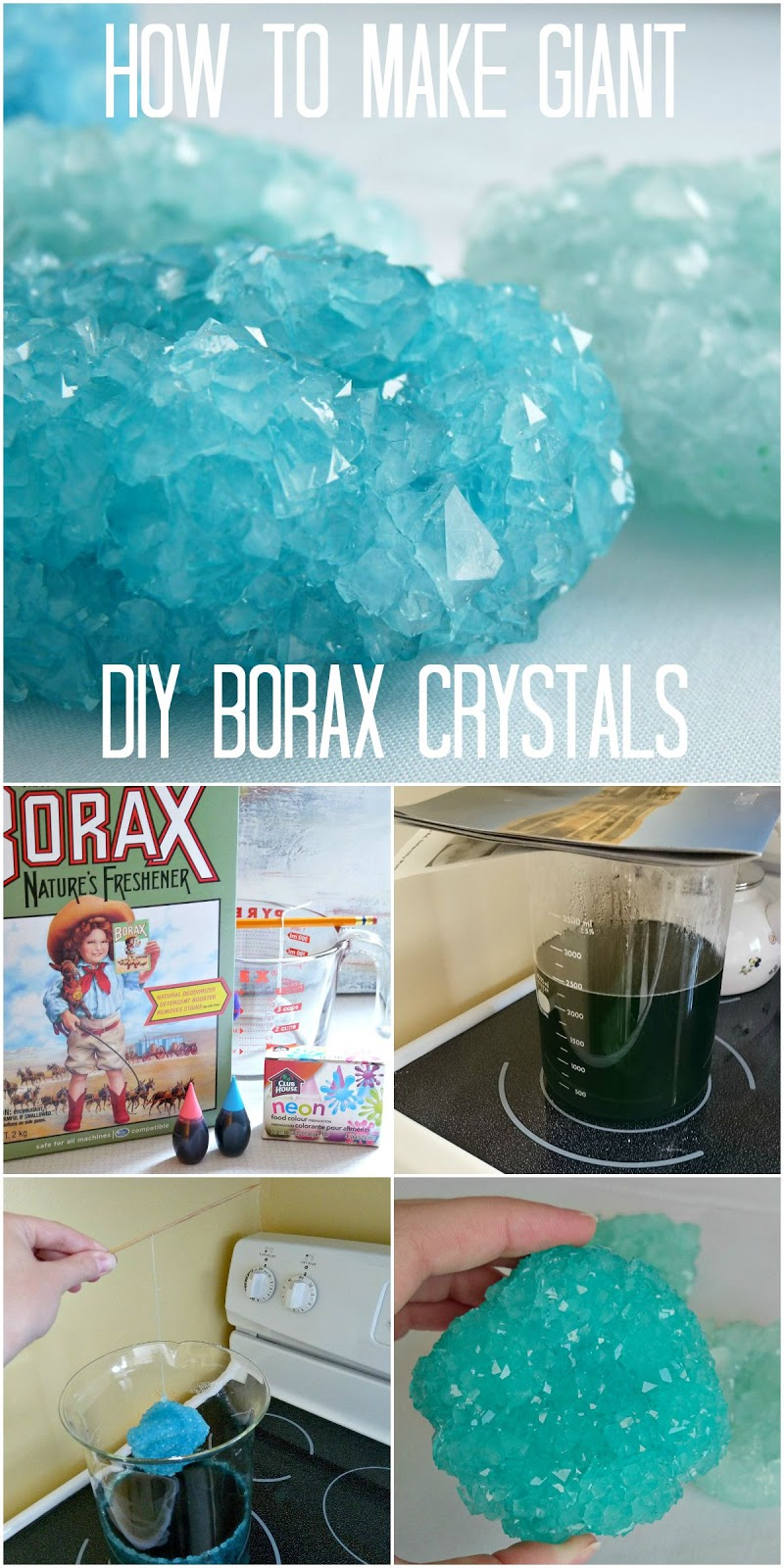 How to make giant borax crystals