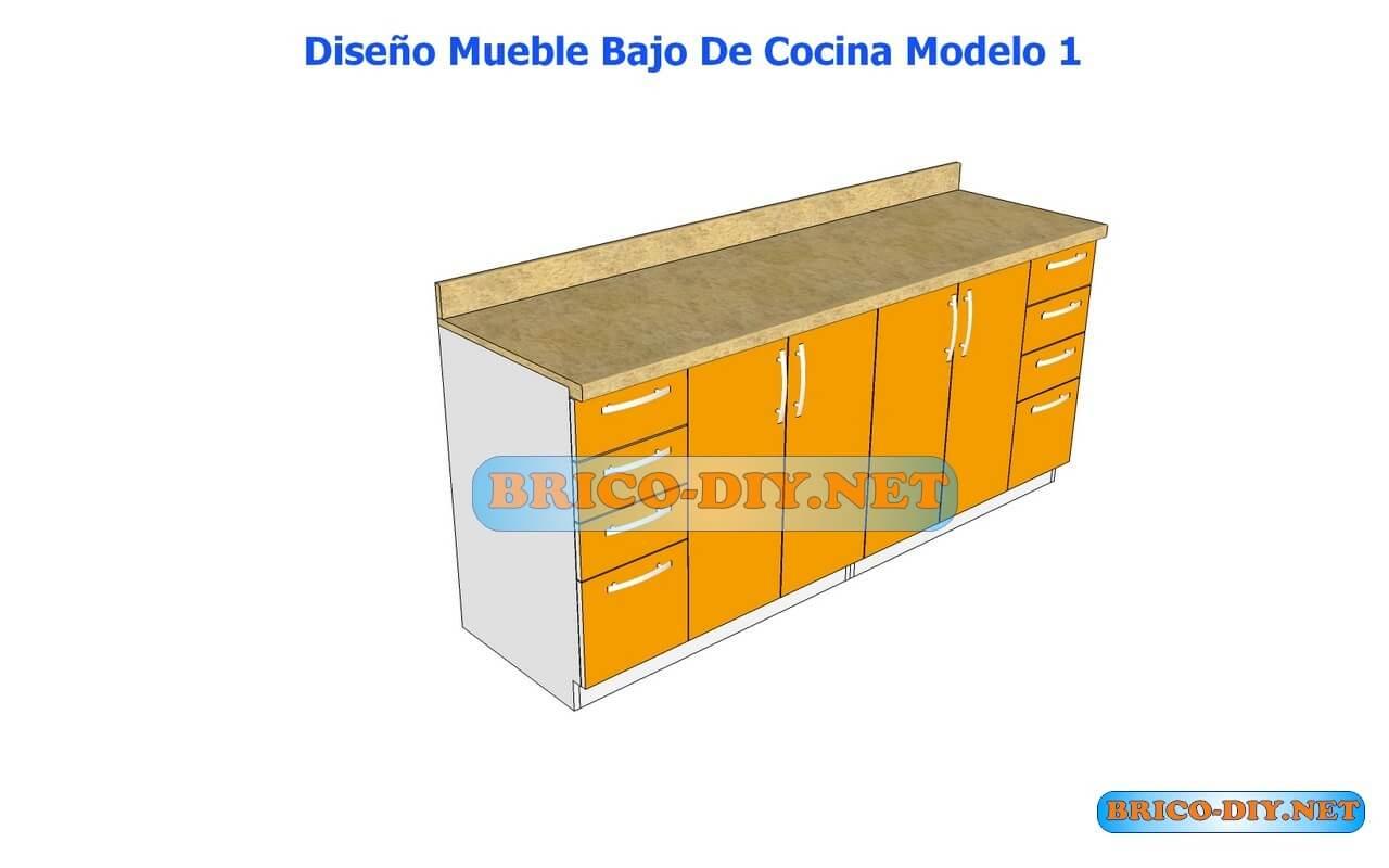 Dise os de muebles bajos de cocina en mdf madera y for Disenos de muebles de cocina