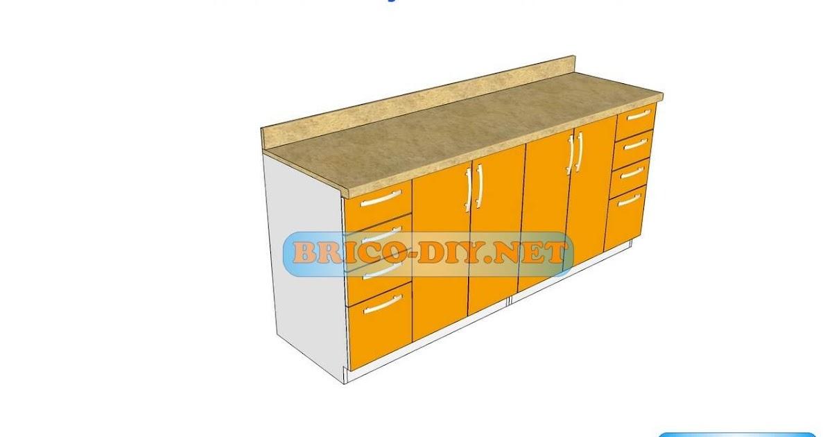 Dise os de muebles bajos de cocina en mdf madera y for Plano escritorio melamina