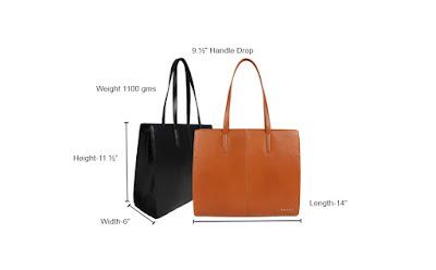 Measuements of the SHAKA brand bag.