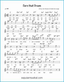 chord darn that dream lagu jazz standar