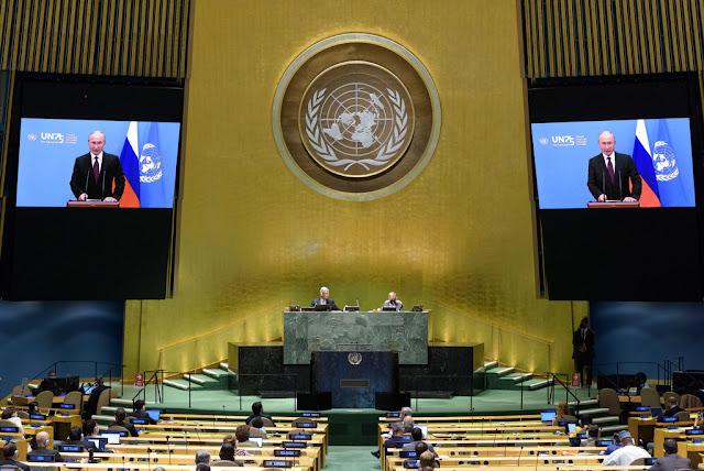 Di Sidang Umum PBB, Putin Tawarkan Vaksin Covid-19 Gratis