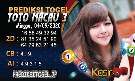 Prediksi Kasir4D Togel Macau Minggu 04 Oktober 2020