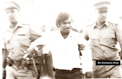 J.V. Pawar is arrested for publicly burning one of Gandhiji's books at Azad Maidan in Mumbai on 29 April 1975