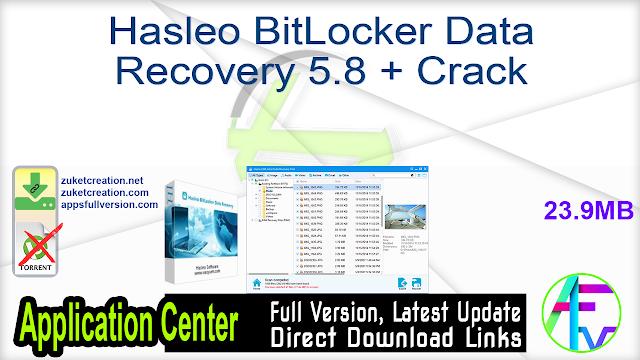 Hasleo BitLocker Data Recovery 5.8 + Crack