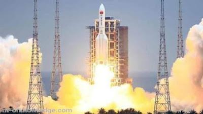 أخيرا .. الصاروخ الصيني الخارج عن السيطرة لونغ مارش 5 بي Long March 5 Bيسقط في المحيط الهندي !