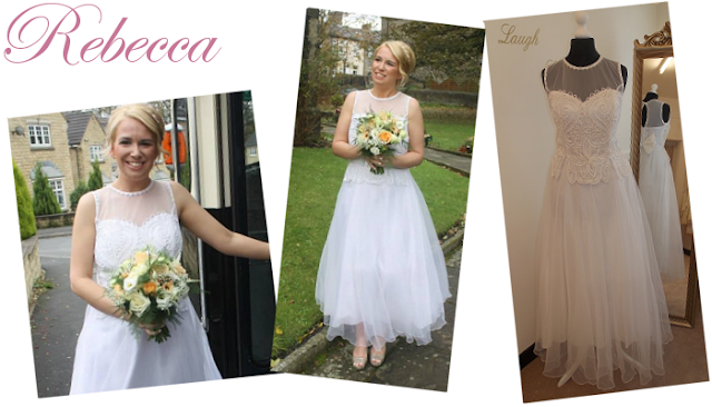 Tea length wedding dress from vintage lane bridal boutique  at Bolton Manchester