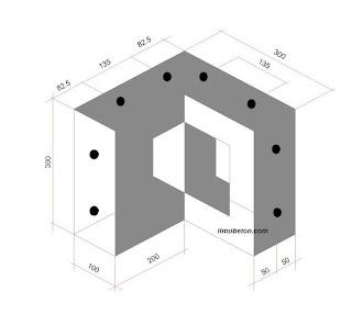 Perspektif Panel Penyambung Struktur/ simpul