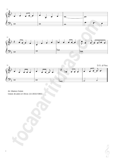 2 Partitura Fácil de Piano de Love is a Shield de Camouflage Easy Sheet Music for Piano beginners
