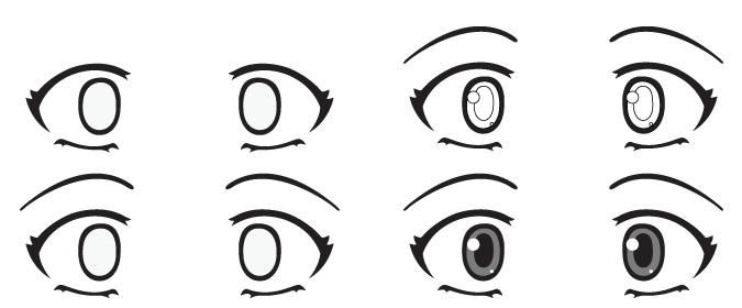 mata anime takut
