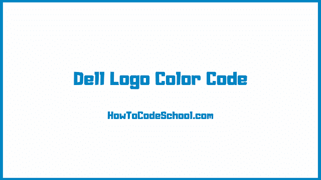 Dell Logo Color Code
