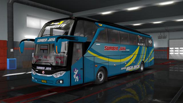 Jetbus 3+ Angga Saputro Cvt FPS Update V.2.7 - ETS2 Mod Indonesia