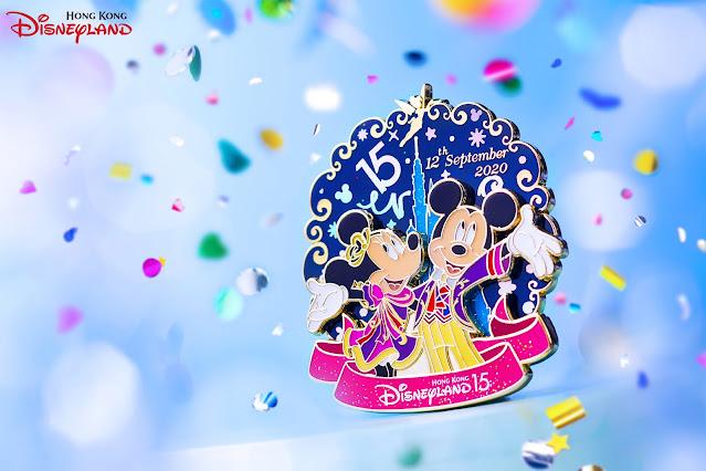 Hong-Kong-Disneyland-15th-Anniversary-Design-特別版-Tote-Bag-珍藏徽章-Pin-香港迪士尼樂園15週年設計奇妙夢想城堡