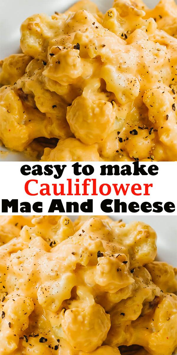 Cauliflower Mac And Cheese #Cauliflower #MacAndCheese #CauliflowerMacAndCheese