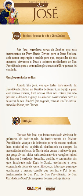 Novena de São José dia 3 - São José e a Divina Providência