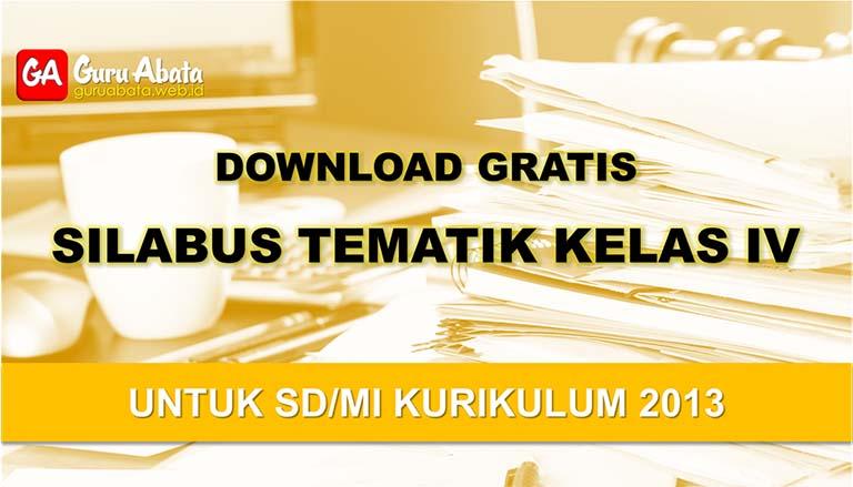 silabus sd Kelas 4 kurikulum 2013 revisi terbaru