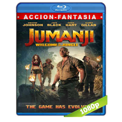 Jumanji En La Selva (2017) BRRip Full 1080p Audio Trial Latino-Castellano-Ingles 5.1