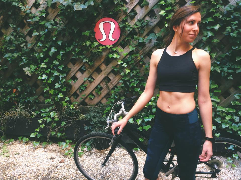 lululemon clip in bra crop