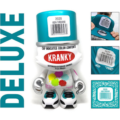 Tenacious Toys Exclusive Aqua Turquoise SuperKranky Vinyl Figure by Sket One x Superplastic
