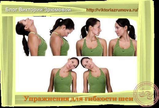 упражнения на развитие гибкости шейного отдела позвоночника