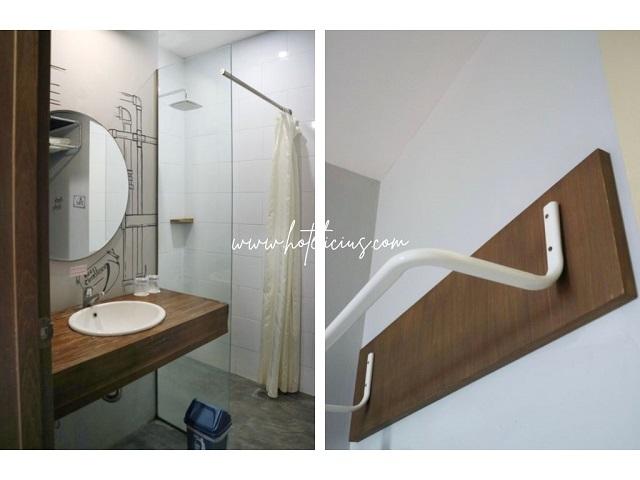 kamar mandi hotel grand kangen jogja bergaya industrial