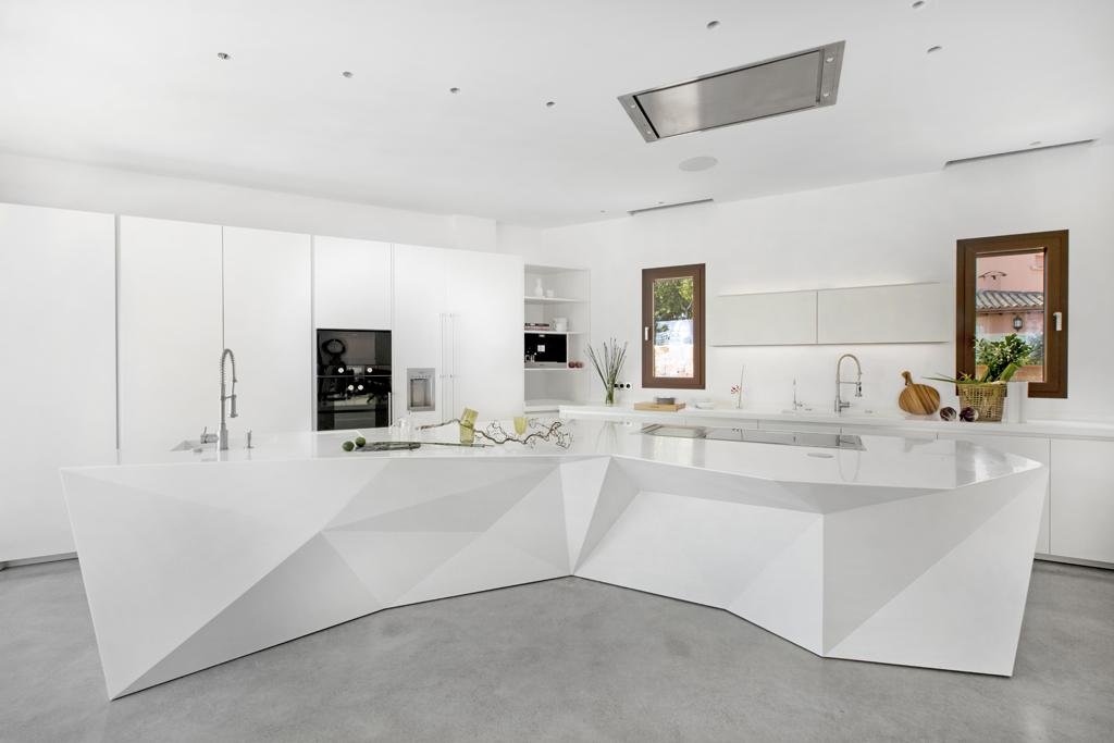 Origami un dise o que recuerda el arte de doblar papel cocinas con estilo - Disenos de cocinas rectangulares ...