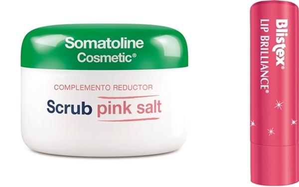 Scrub Pink Salt Somatoline-LipBrilliance Blistex
