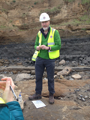 Dave Entwisle teaching us how to tell the difference between a silt and a clay by their behaviour
