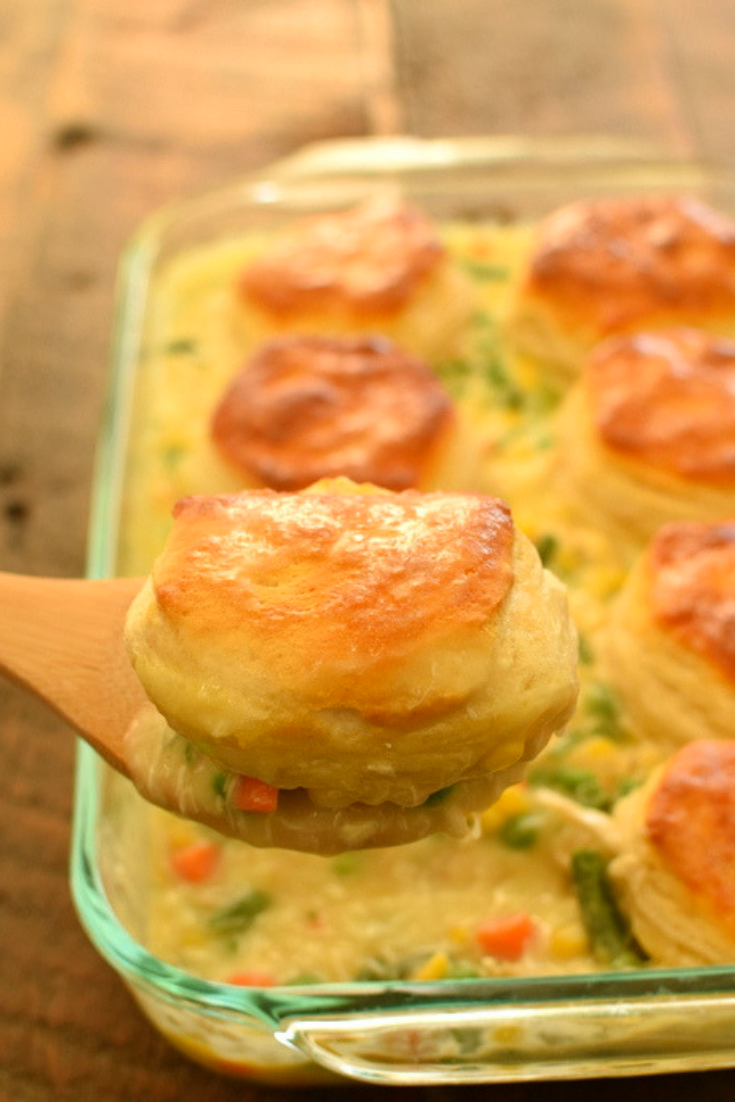 BISKUIT CHICKEN POT PIE