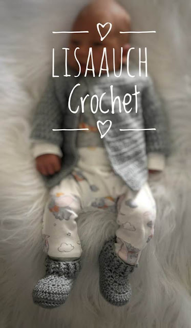 free crochet pattern baby booties easy