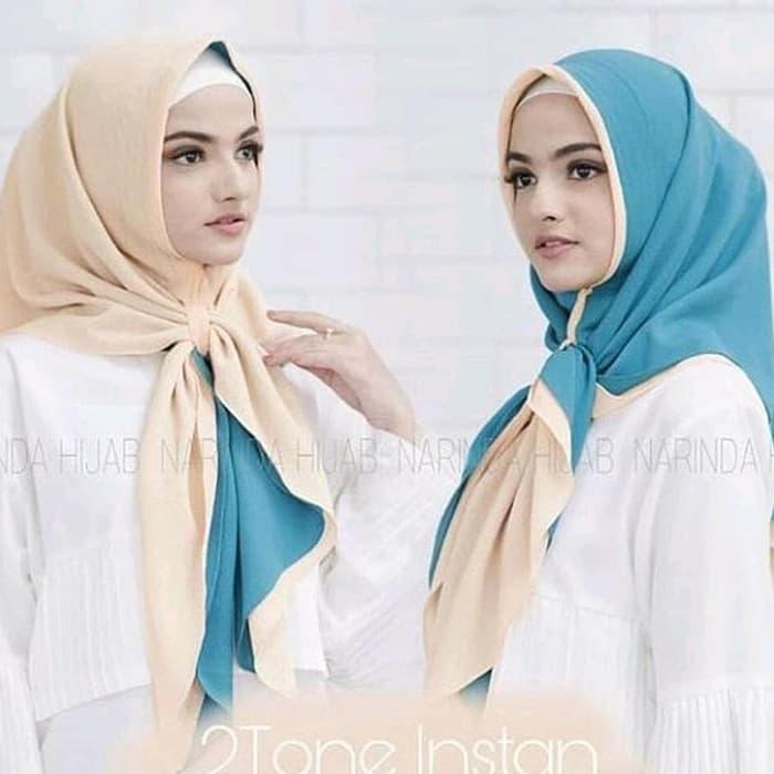 Jilbab Instan 2 Layer 2 Warna Cantik Terbaru Modis Warna Biru Muda