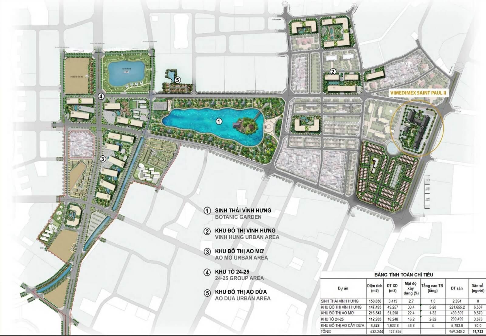 Bản đồ quy hoạch khu đô thị Ao Mơ