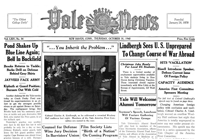 30 October 1940 worldwartwo.filminspector.com Yale Times