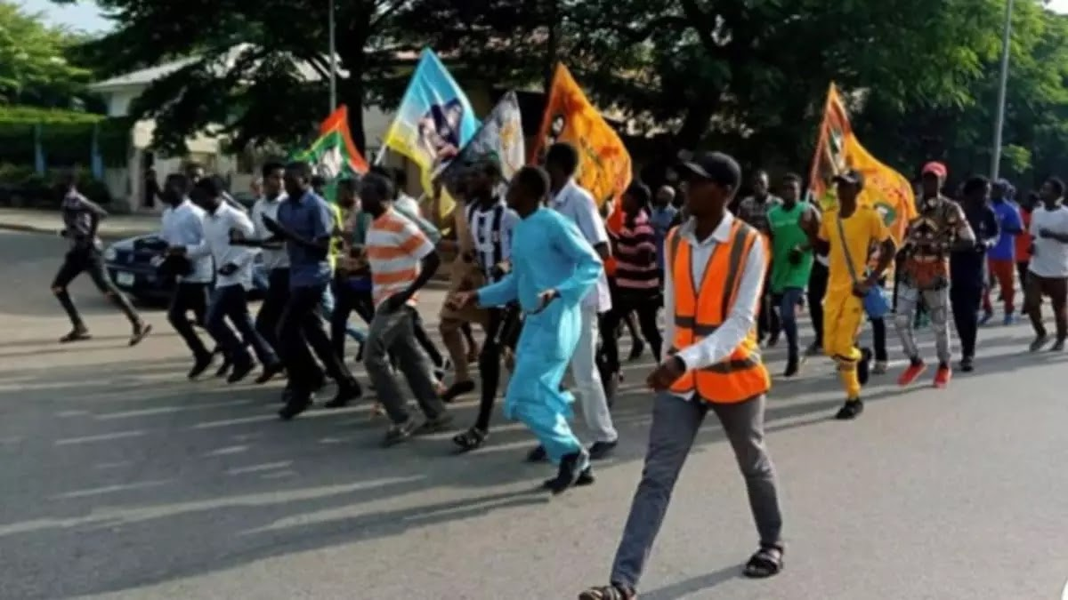 Soleimani killing: Islamic Movement protests in Abuja, burns US flag