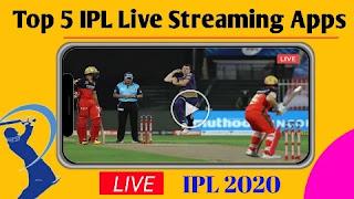 Top five ipl live streaming apps, IPL Live 2020, Ipl live kaise dekhe