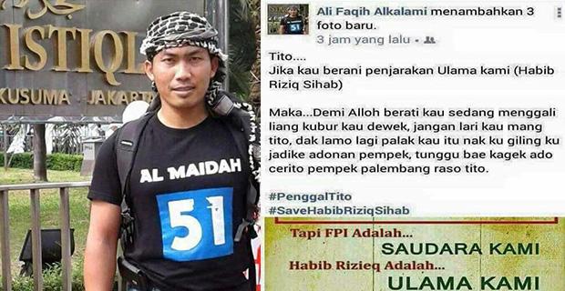 mengancam Akan Menjadikan Kapolri Jadi Pempek Ali Amin Said Telah Ditangkap
