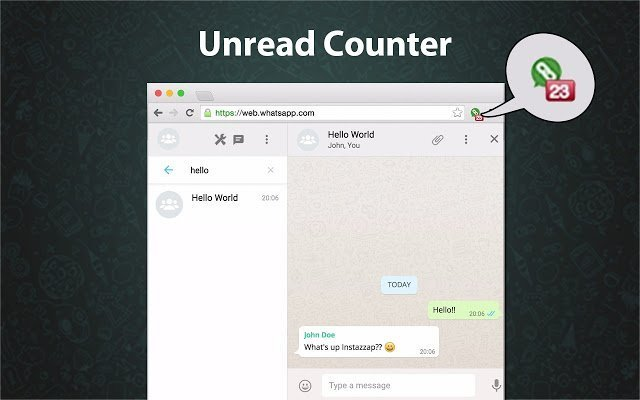 Instazzap امتداد سوف يساعدك على تذكر الرسائل غير المقروءة من الواتساب ويب الخاص بك