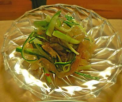 中華クラゲとキュウリの和え物